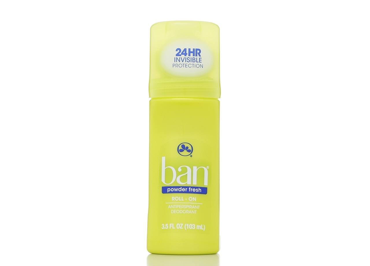 Ban Roll-On Antiperspirant Deodorant - Powder Fresh, 103ml