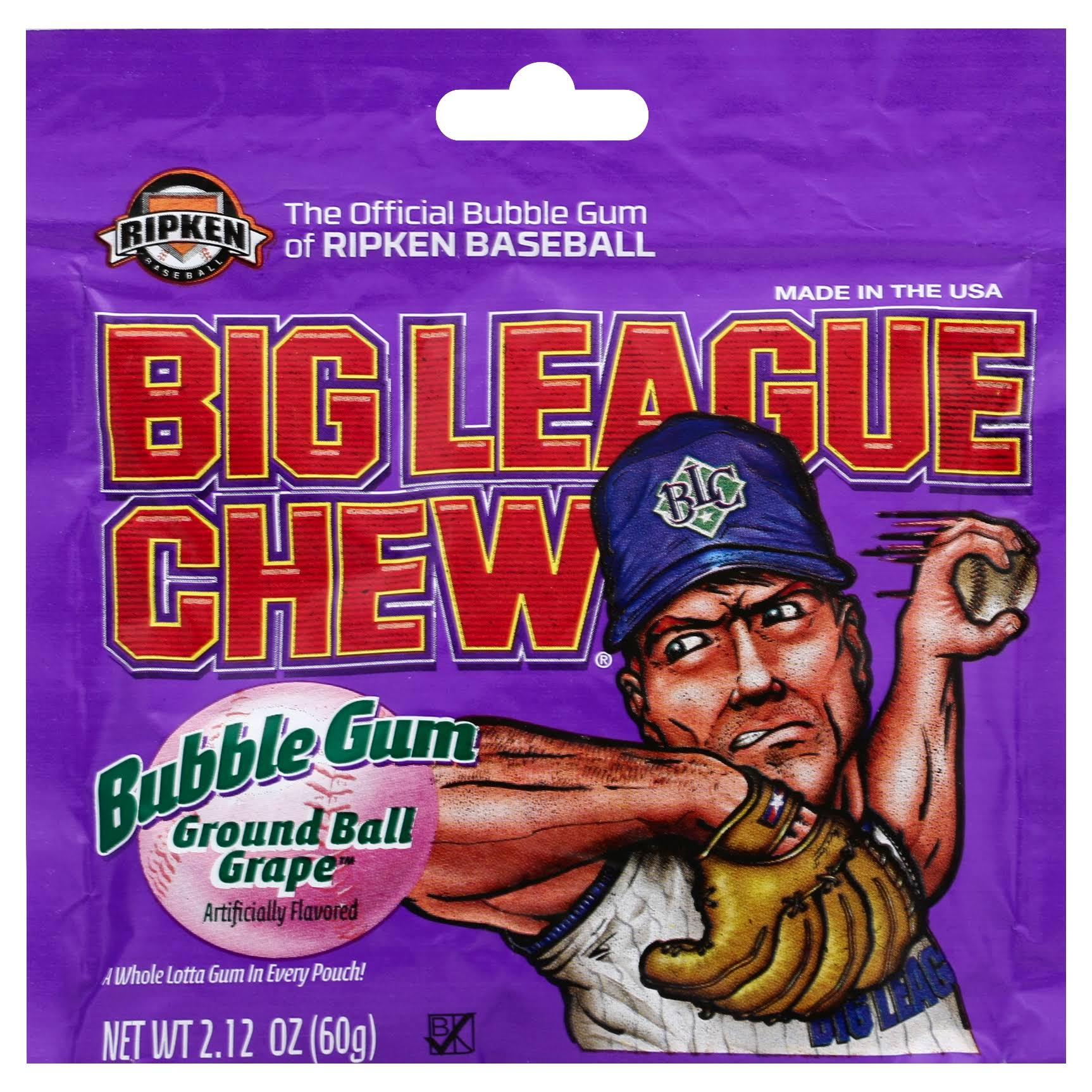 Big League Chew Bubble Gum - Ground Ball Grape, 2.12oz, 12 Pack