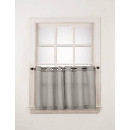 S. Lichtenberg & Co. Montego Grommet Window Tier Pair, Nickel