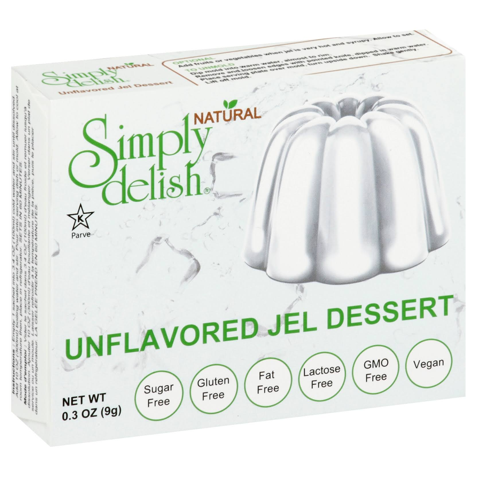 Simply Delish Unflavored Jel Dessert - 0.3oz
