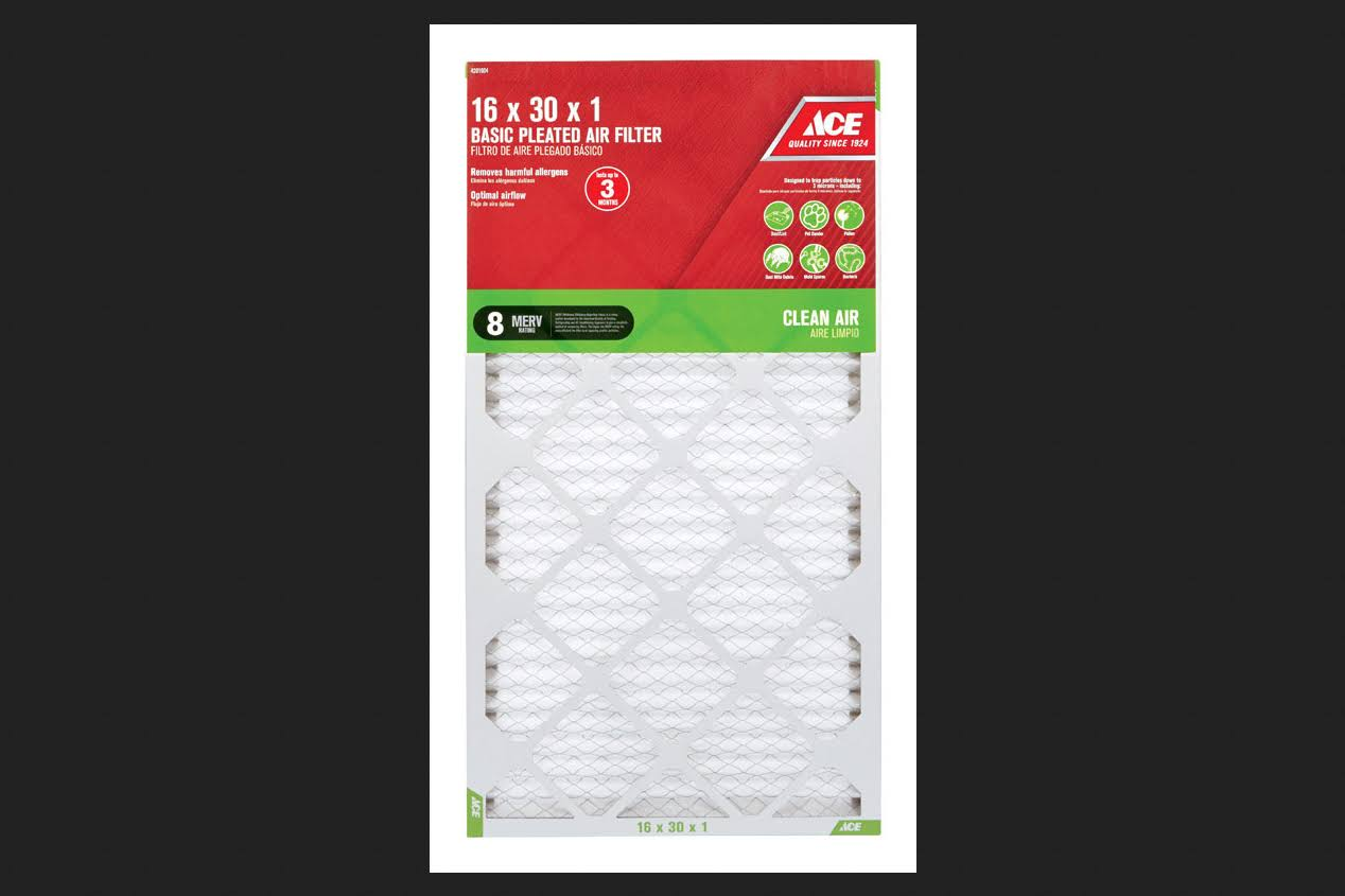 Ace 16 in. W x 30 in. H x 1 in. D Pleated 8 MERV Pleated Air Filter