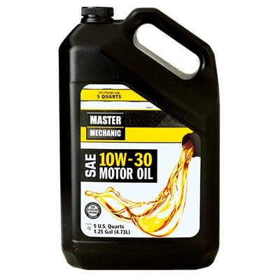 Master Mechanic 10W30 Motor Oil - Pack of 3, 5qt