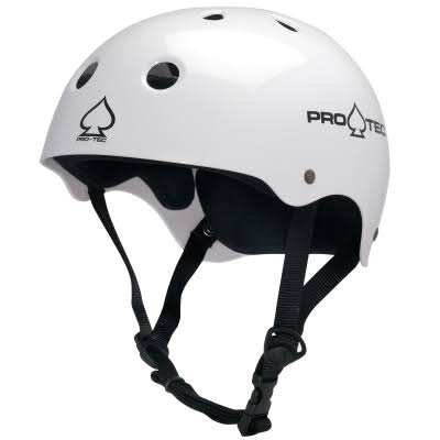 Protec Original Classic Skate Helmet - Gloss White, Medium