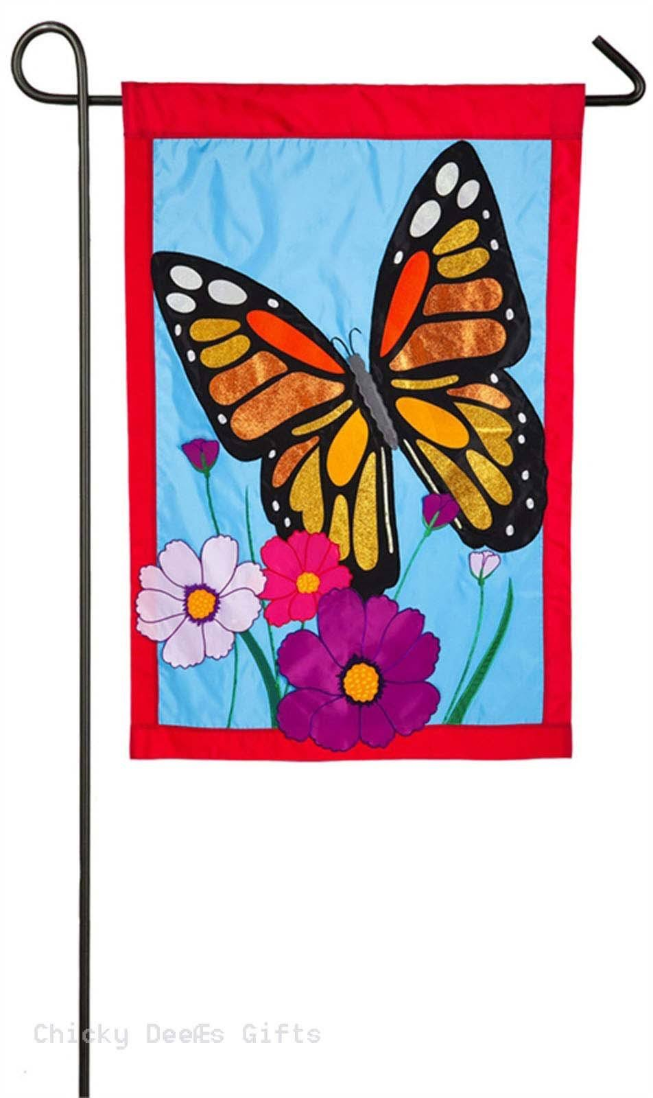 Evergreen Enterprises Monarch Butterfly Garden Flag