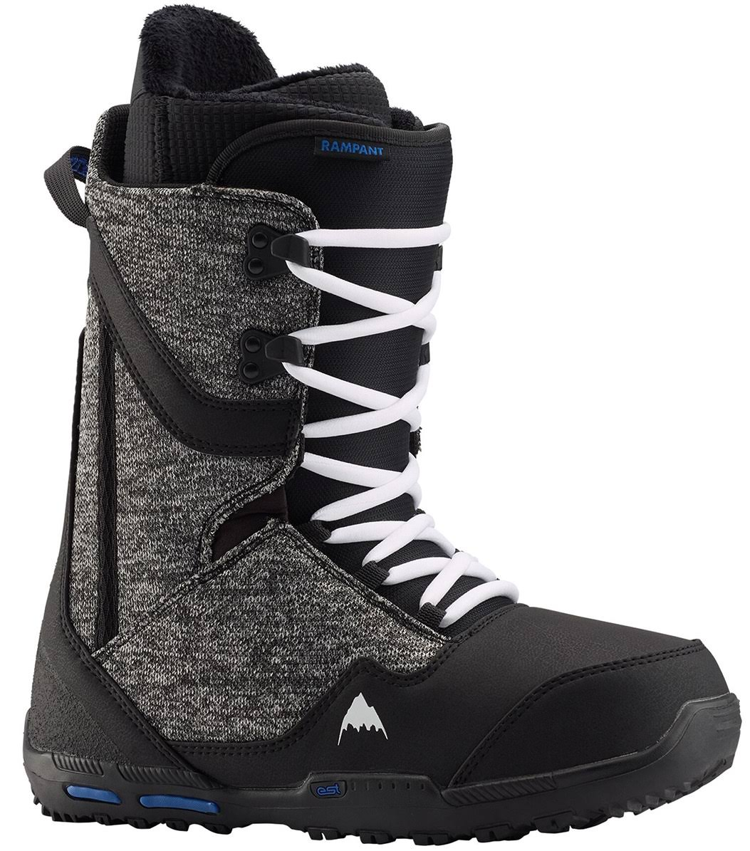 Burton Men's Rampant Snowboard Boot, Black / Blue, 12