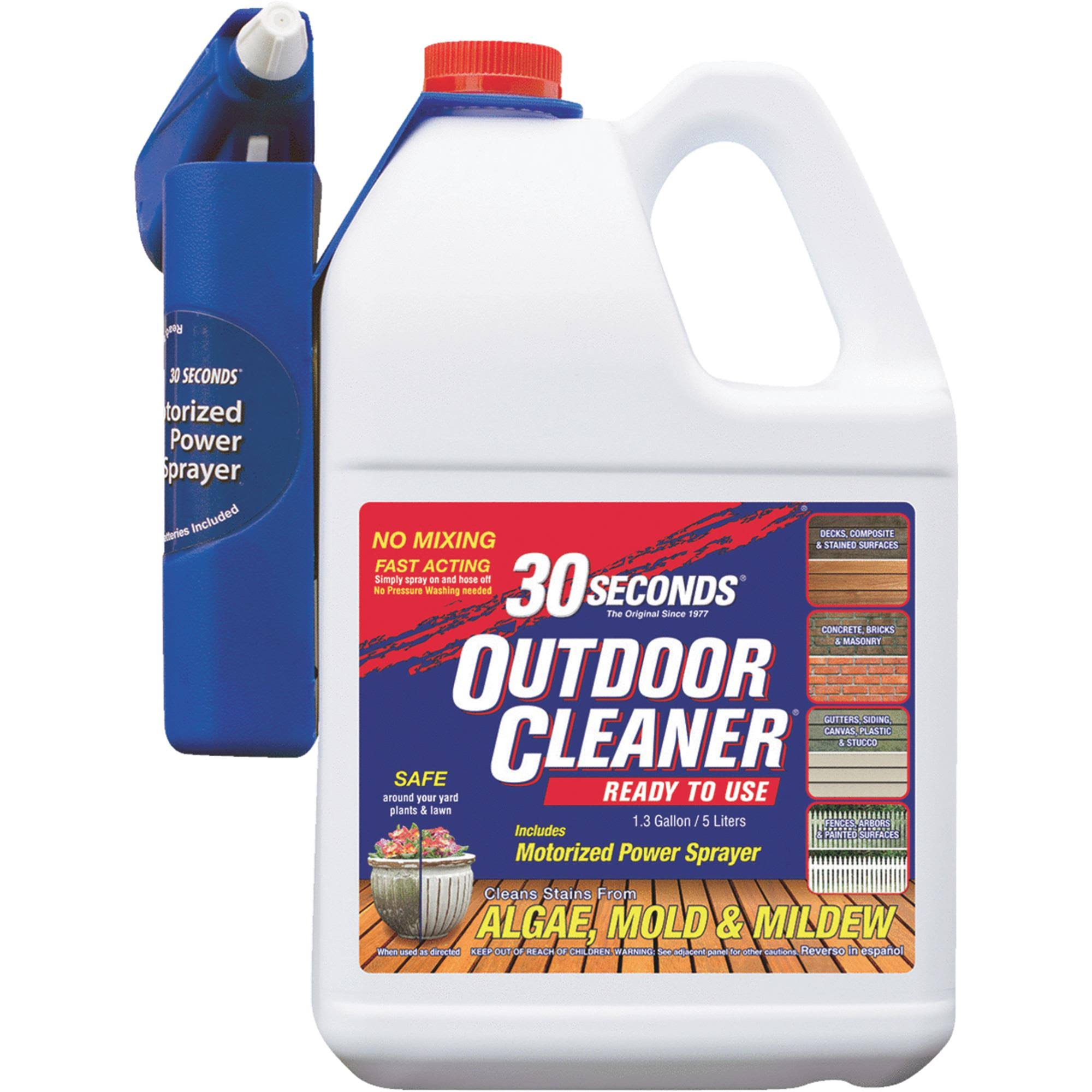 30 Seconds Outdoor Cleaner Algae Mold and Mildew Remover - 1.3gal