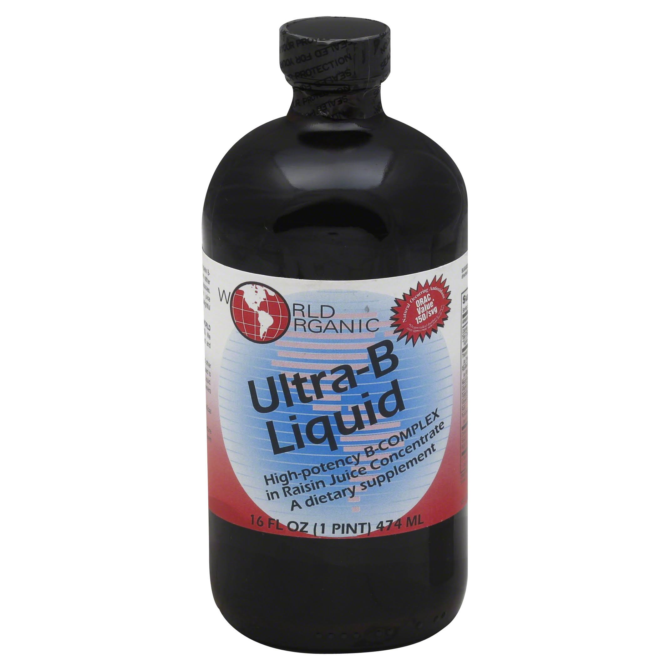 World Organic Vitamin Liquid Ultra-b Supplement - 16oz