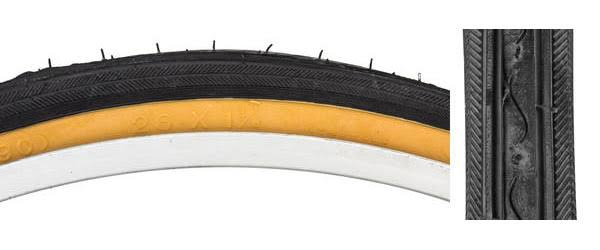 Sunlite 27x1-1/4 Black /Gum Road HP90 K35 Tire