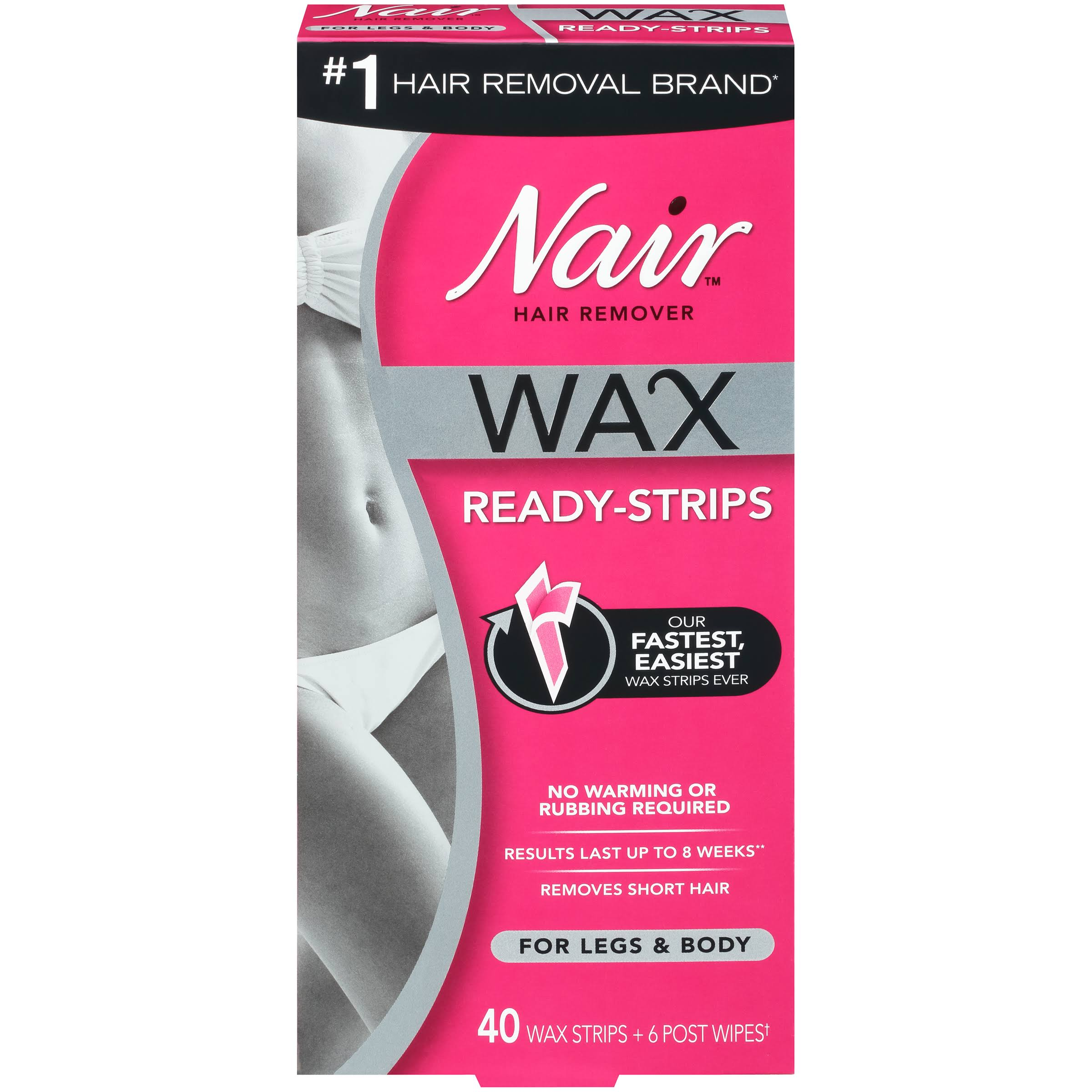 Nair Hair Remover Wax Ready - Strips - 40 ct