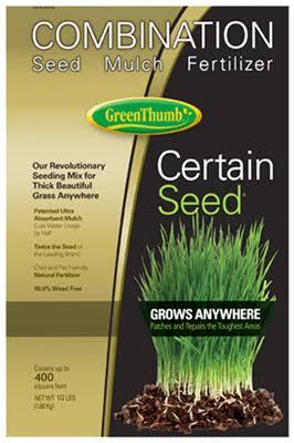 Green Thumb 22222 Premium Certain Seed Fertilizer and Mulch - 10lbs