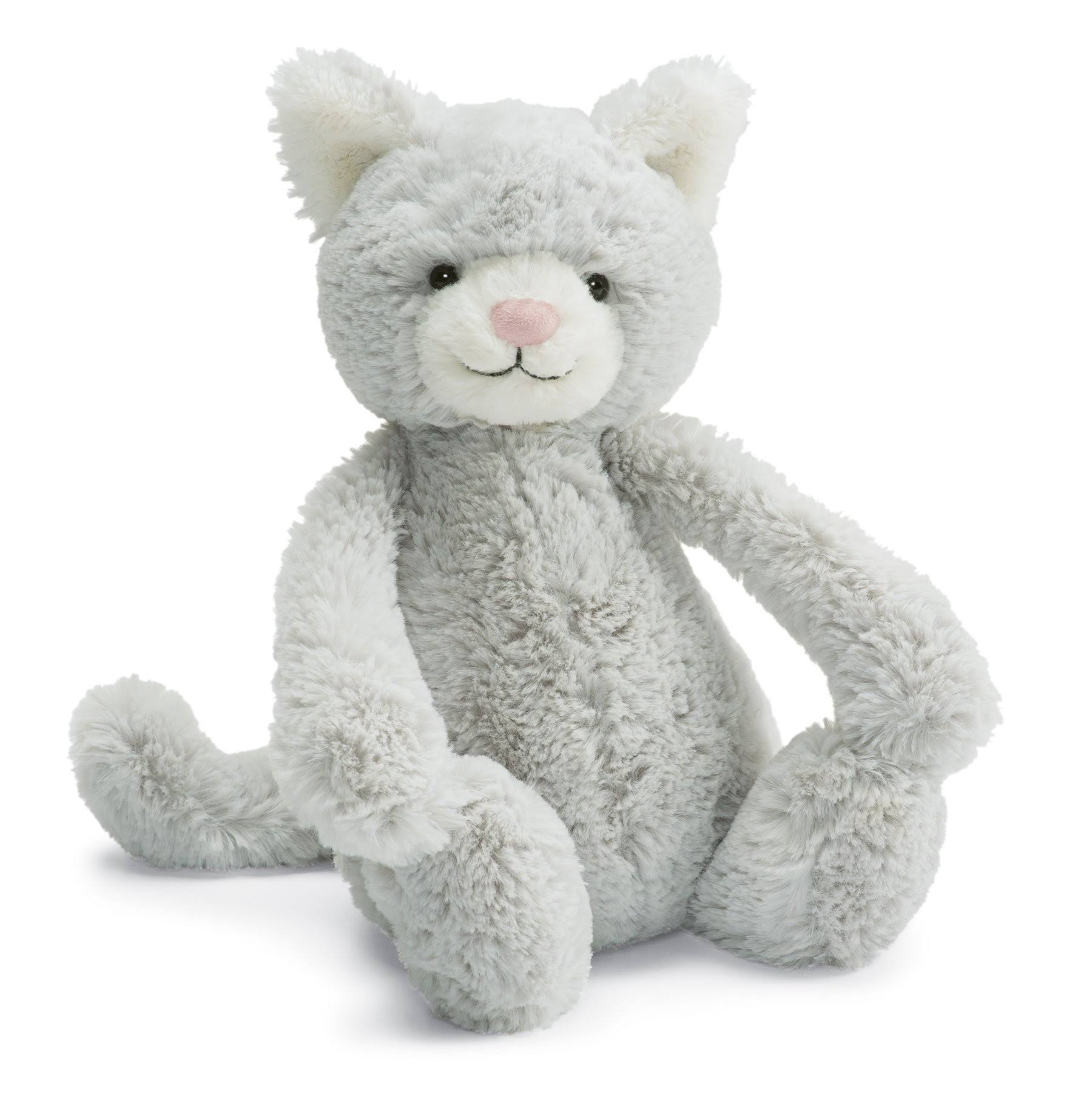 Jellycat London Bashful Grey Kitty - 12'', Medium