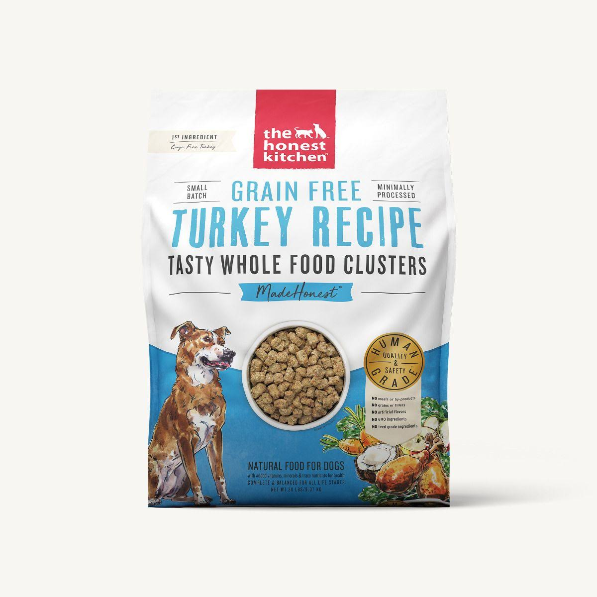 The Honest Kitchen Whole Food Clusters Grain Free Turkey Dog Food 20 lb