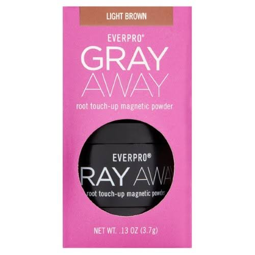 Everpro Gray Away Root Touch Up Magnetic Powder - Light Brown, 0.13oz