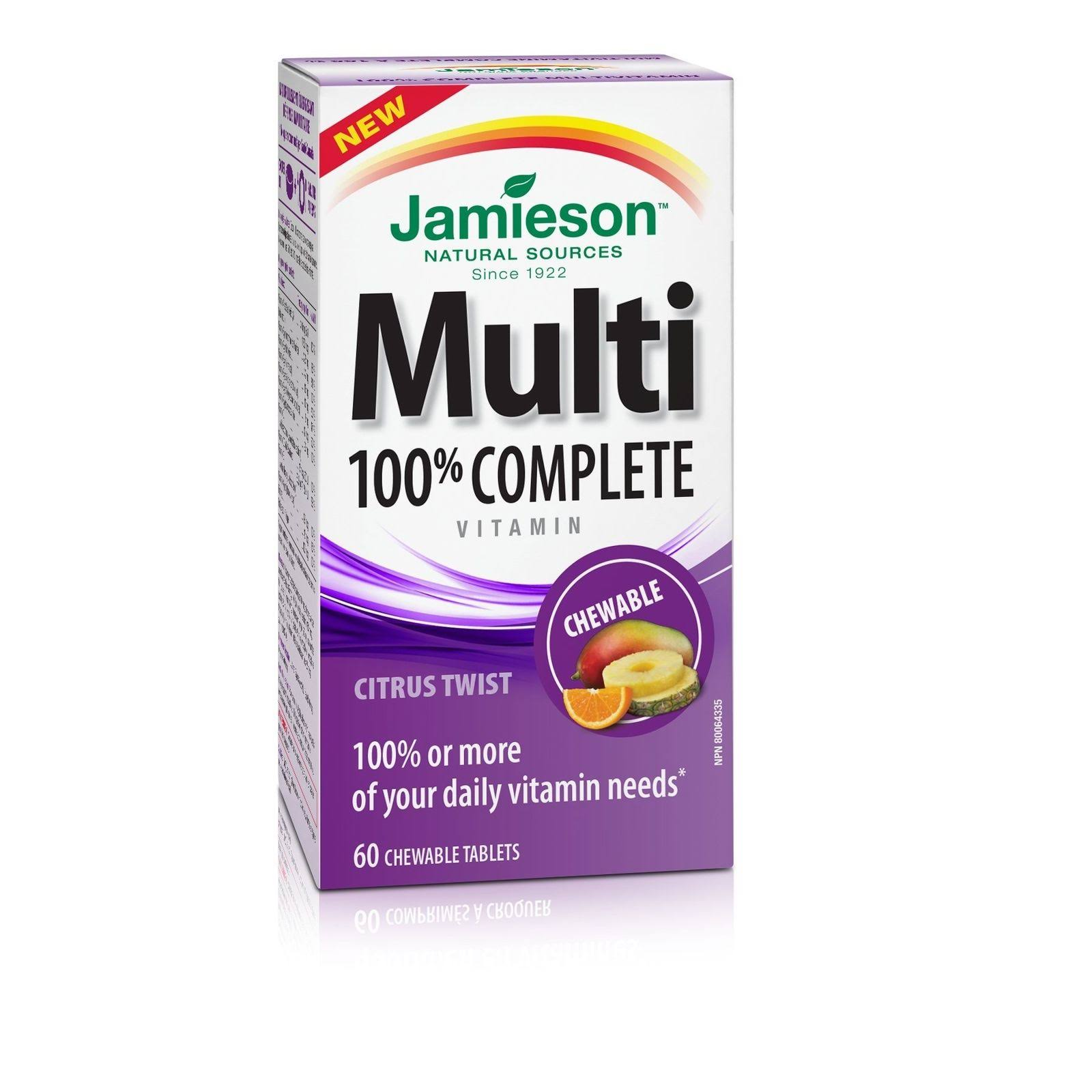 Jamieson Adult Chewable Multivitamin Supplements - 60ct