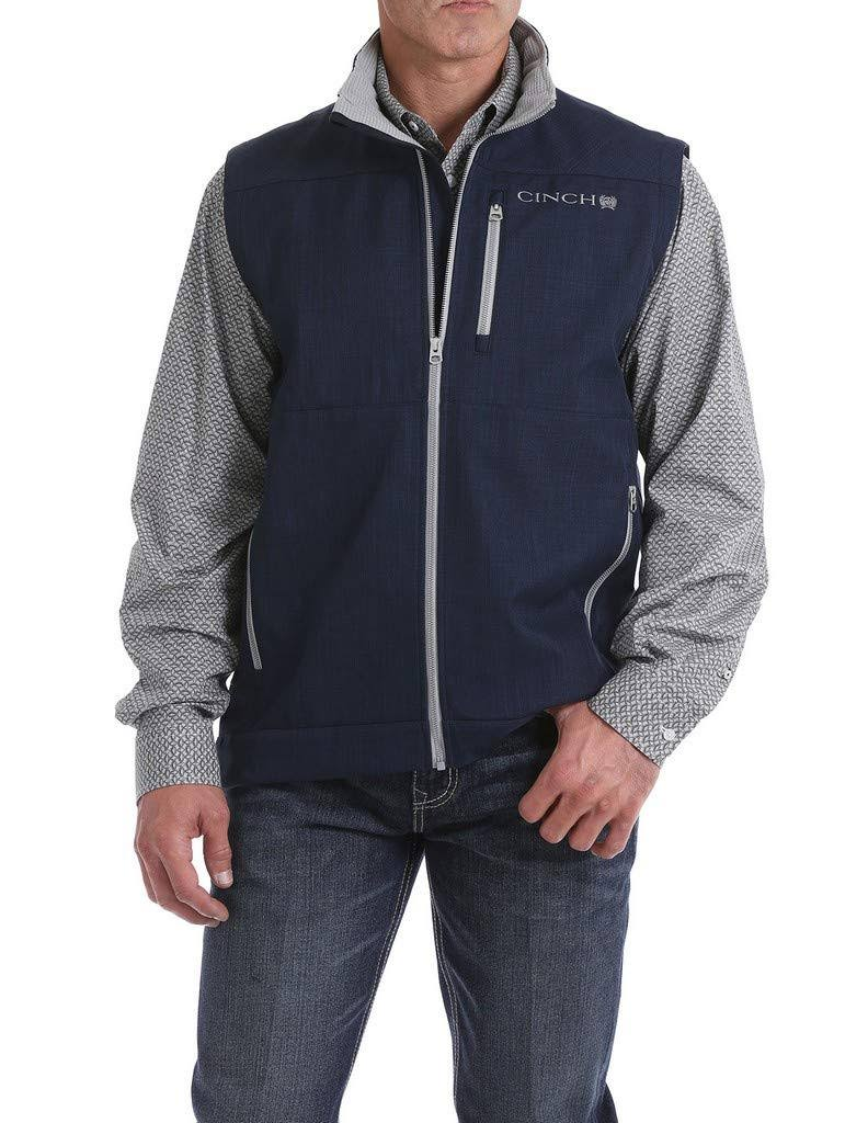 Cinch Men's Navy Textured Bonded Vest