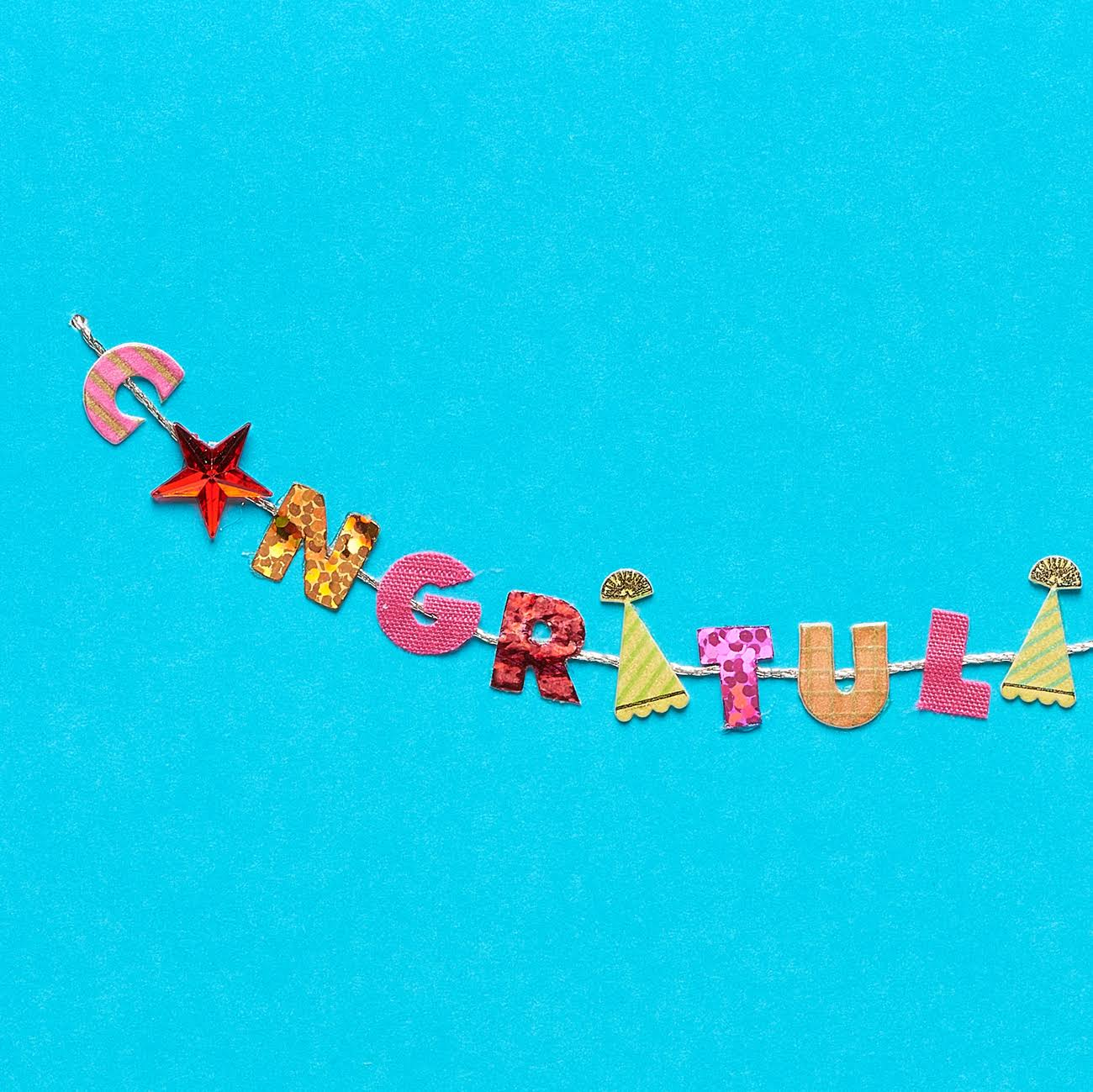 Papyrus Greeting Card, 3.75 inch x 7.75 inch, Festive Congratulations with Rhinestones