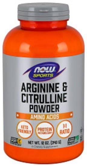 Now Foods Arginine & Citrulline - 12 oz - Powder