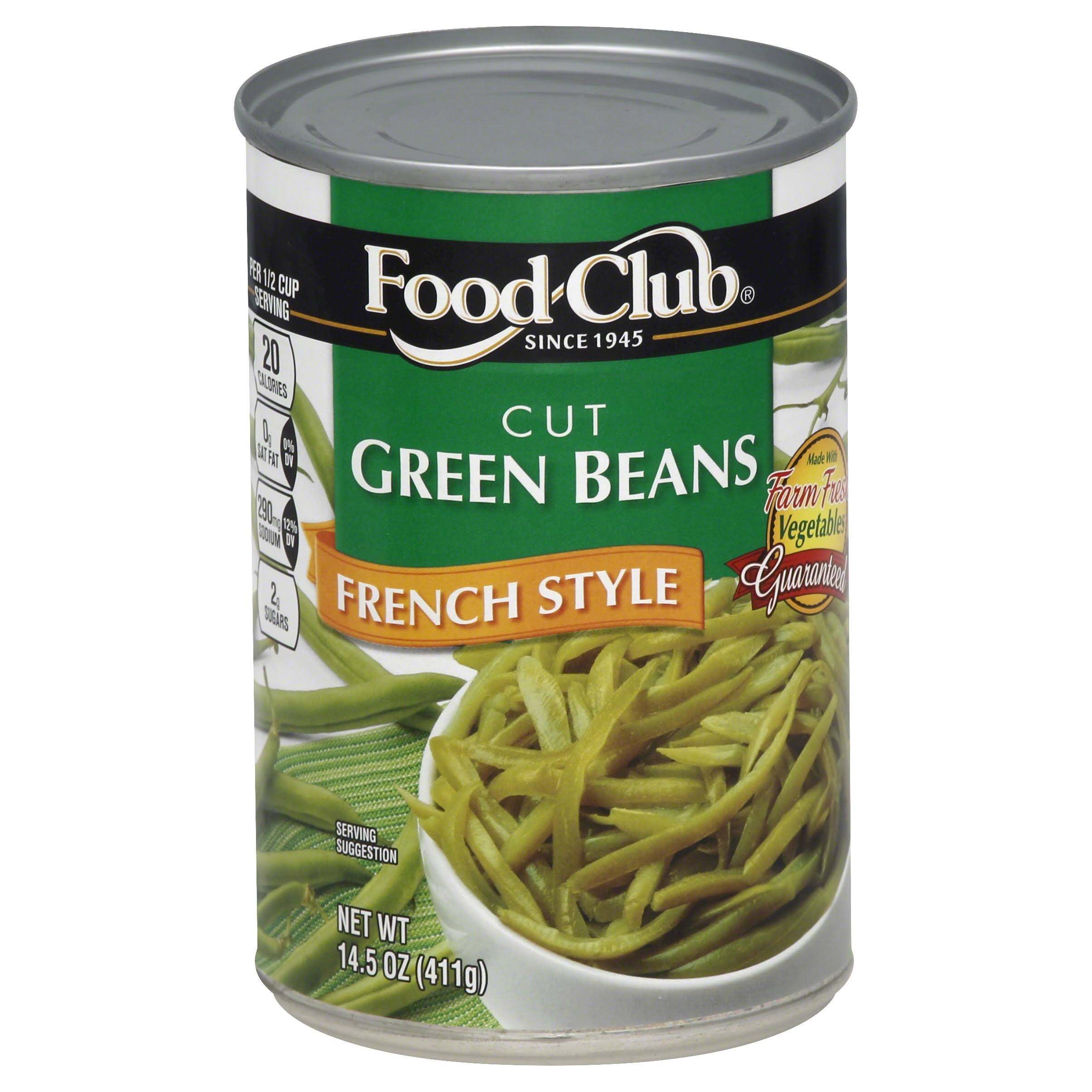 Food Club Green Beans - French Style, 14.5oz