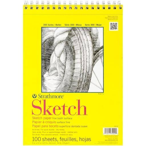 Pro-Art Strathmore Spiral Sketch Book - 23cm x 30cm, 100 sheets