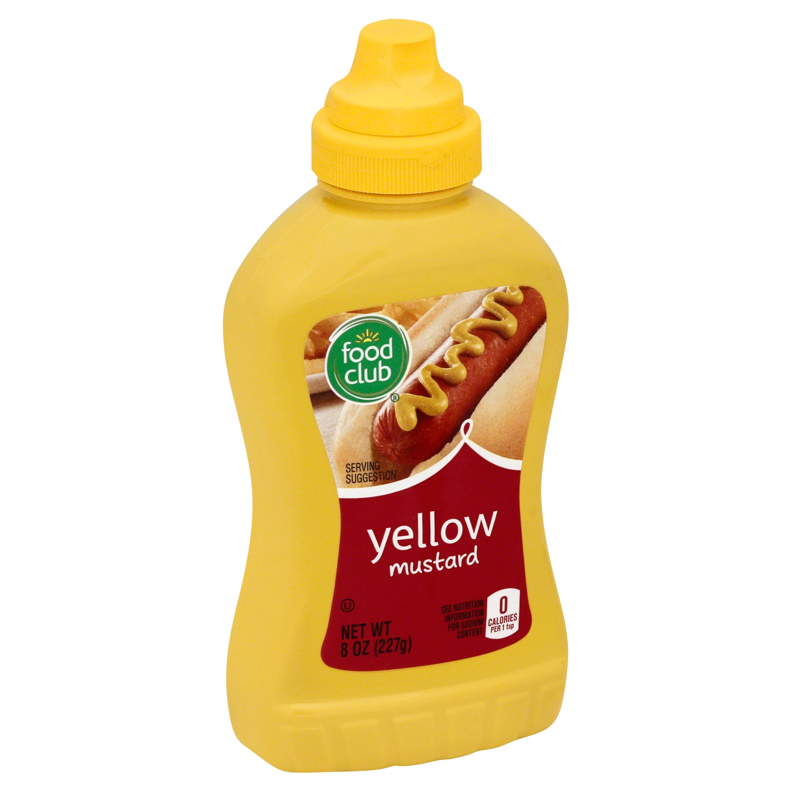 Food Club Yellow Mustard - 8oz