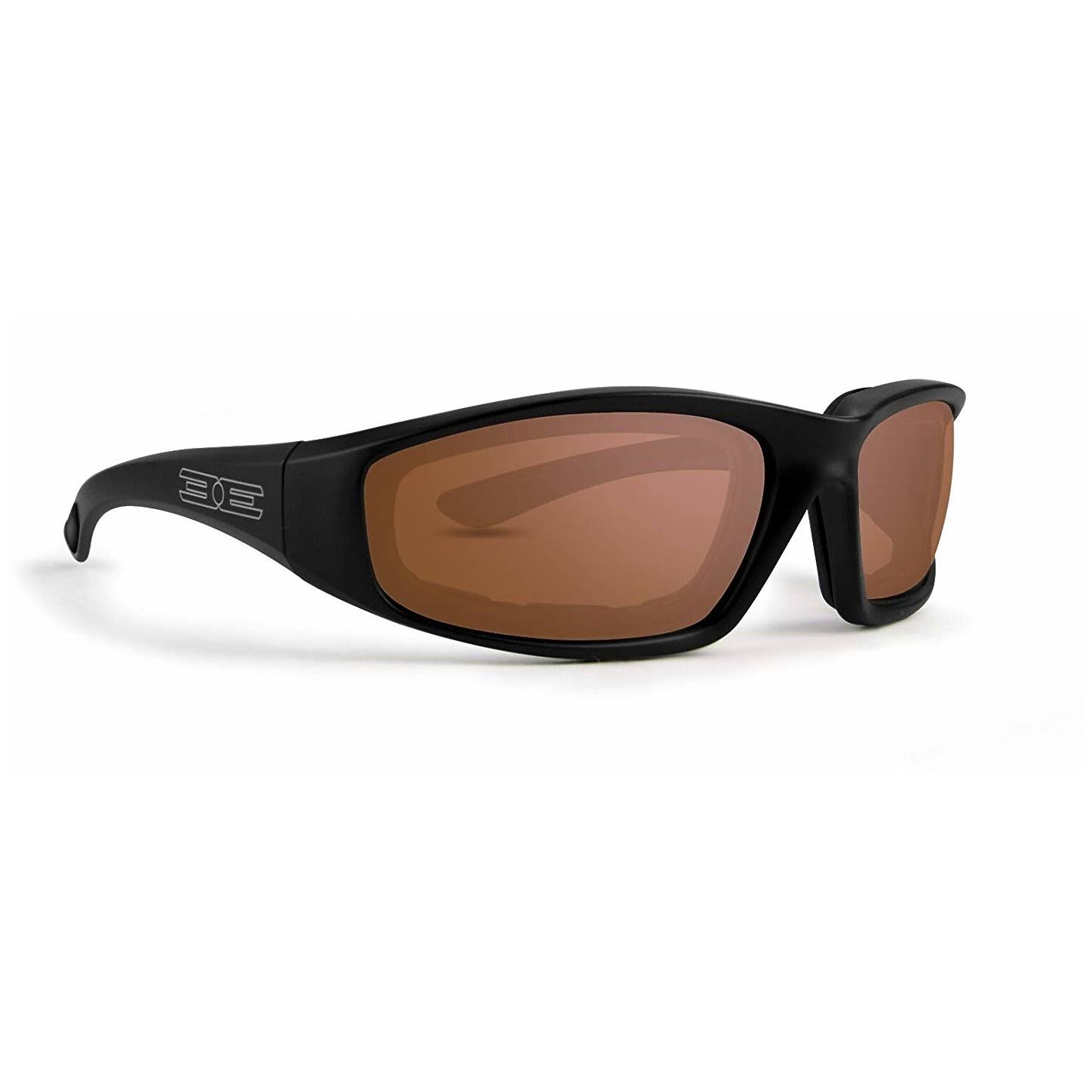 Epoch Foam Padded Motorcycle Sunglasses - Black, Smoke Lenses
