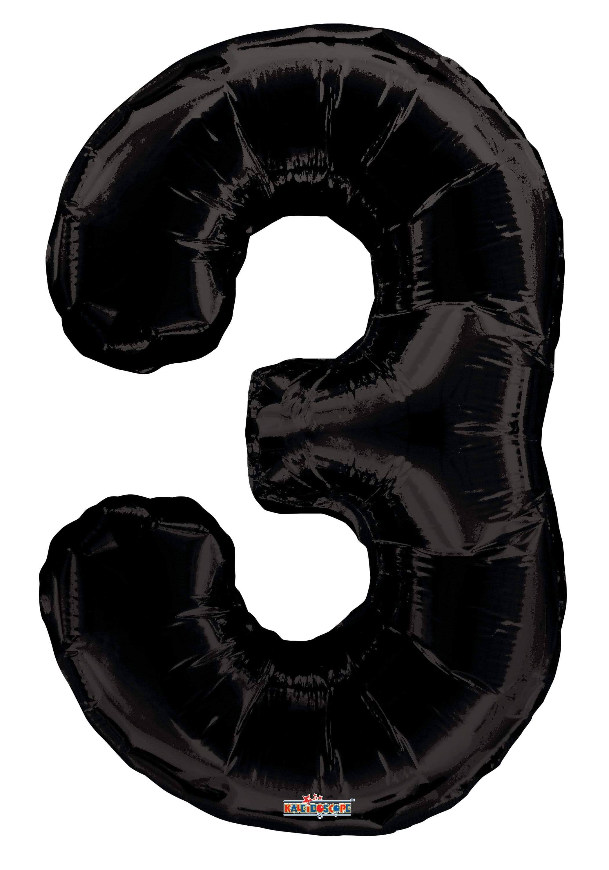 Prairie Supply Number 3 Balloon - Black, 34""