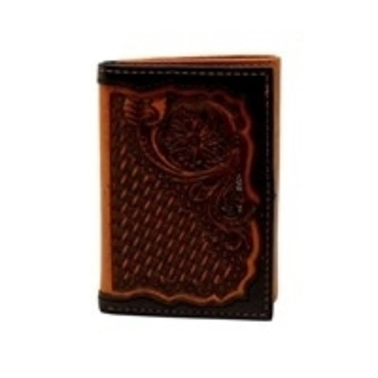 Ariat Trifold Floral Embossed Wallet