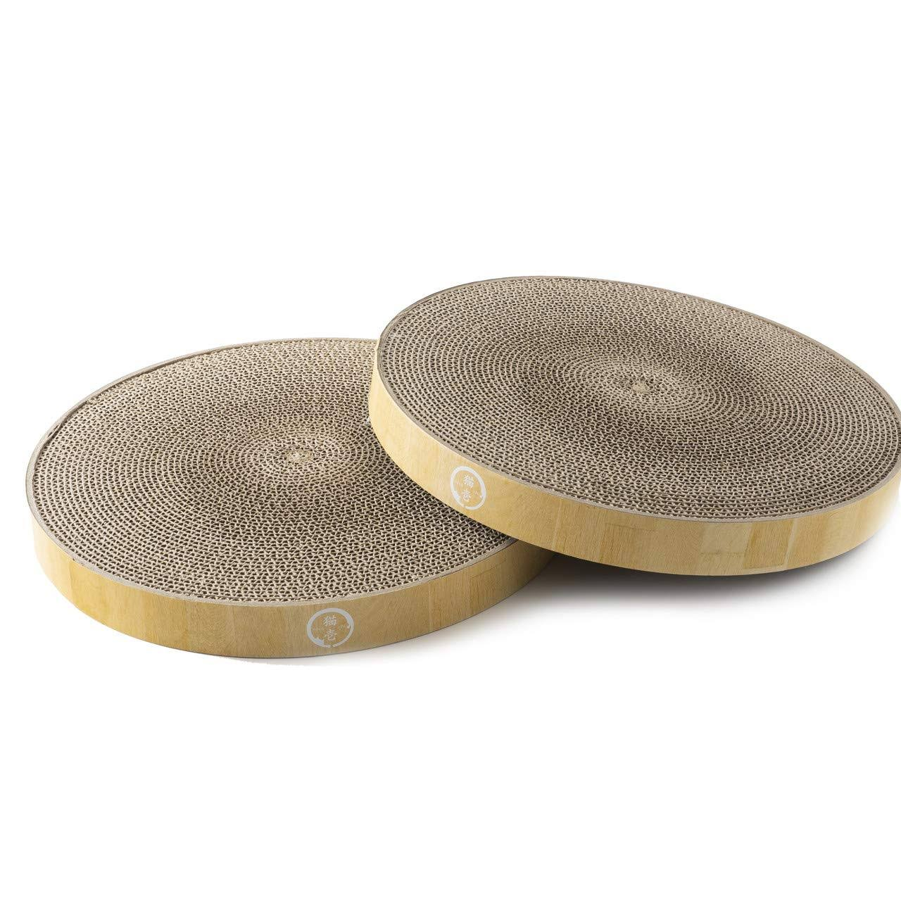 Necoichi Cozy Cat Scratcher Bowl Replacement Pads, 2 Count