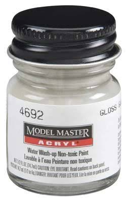 Testors Model Master Acrylic Paint - Gloss Gull Gray, 1/2oz
