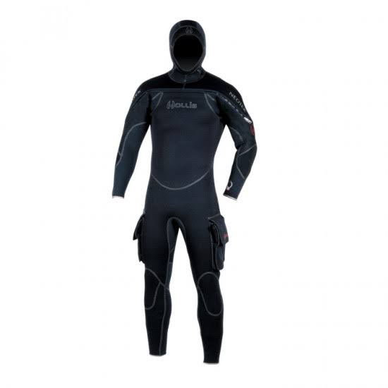 Hollis Mens Neotek Semi Drysuit - Black, Large