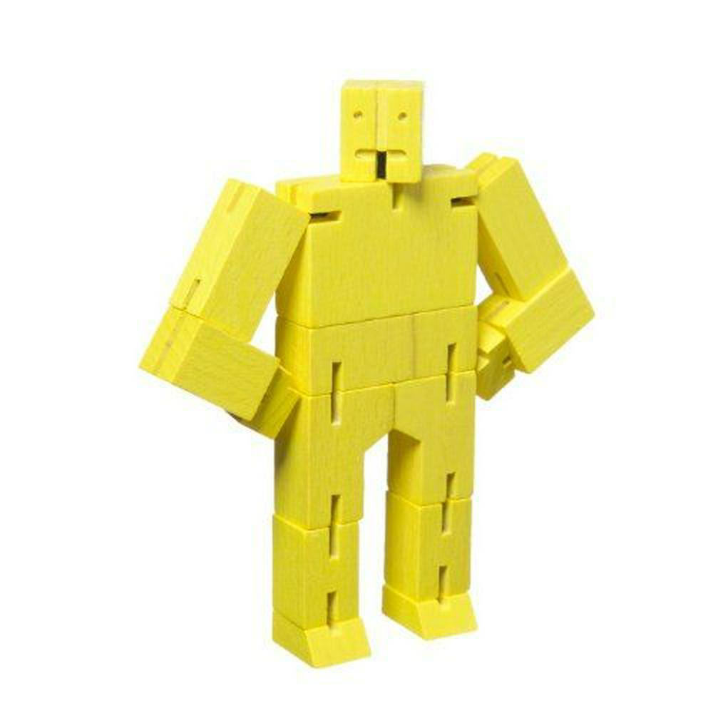 Areaware Micro Cubebot Brain Teaser Puzzle - Yellow