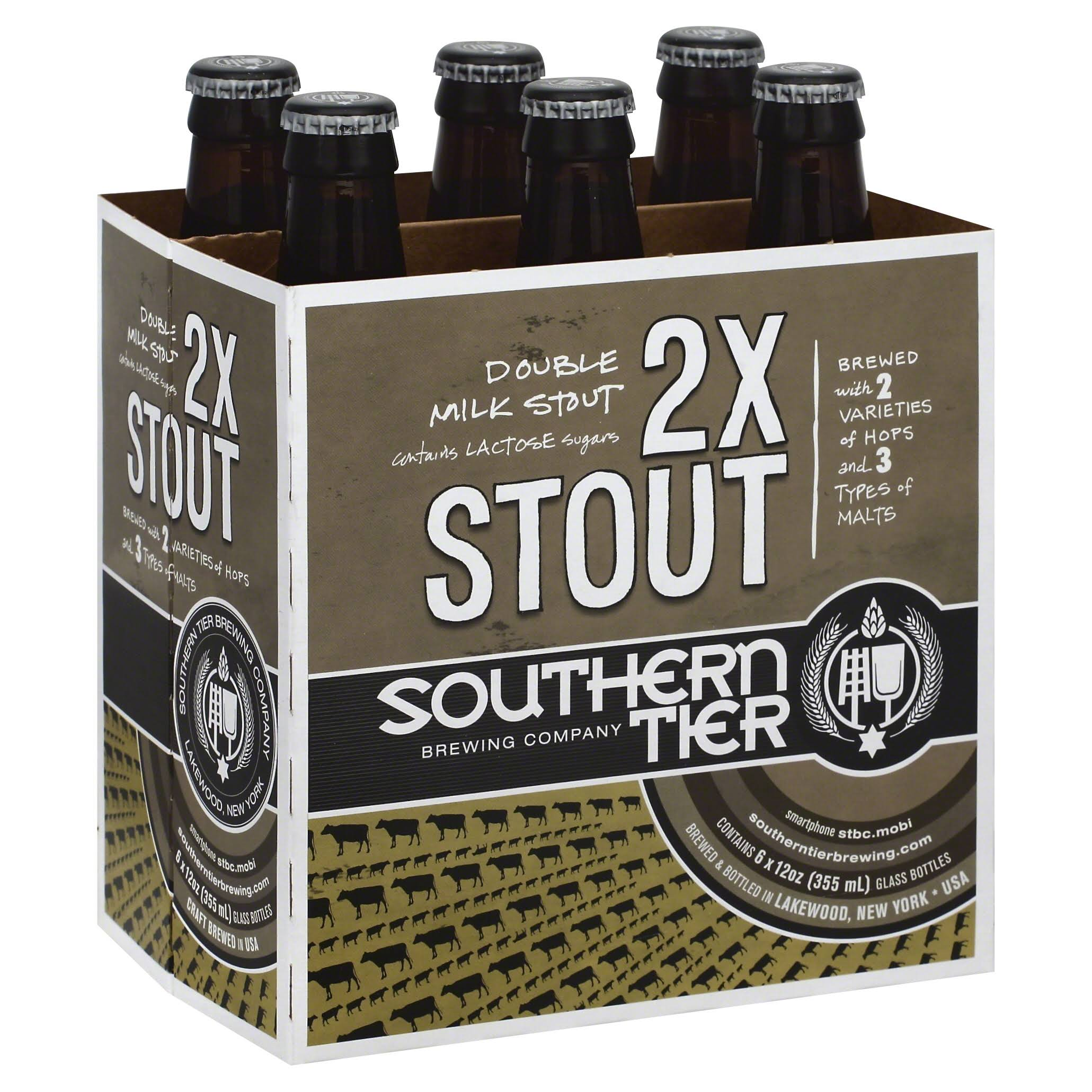 Southern Tier Brewing Company 2x Stout - 6 Bottles