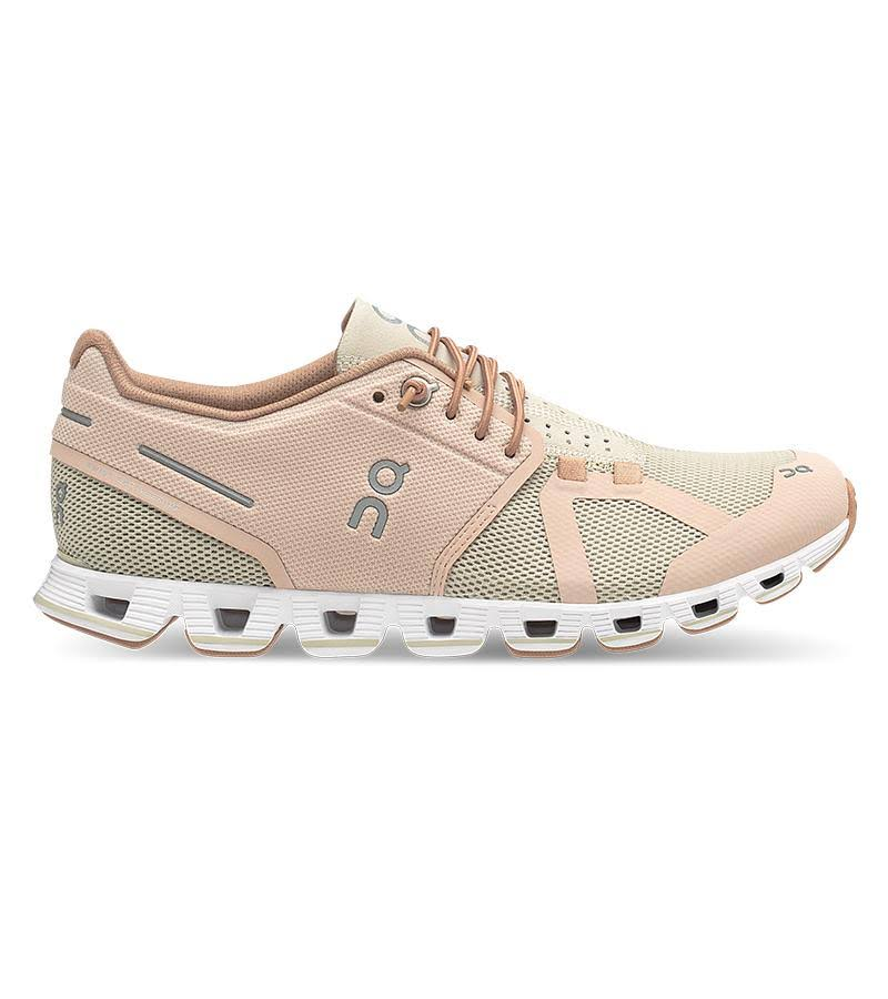 on Women's Cloud Running Shoes - Rose/Sand - 10