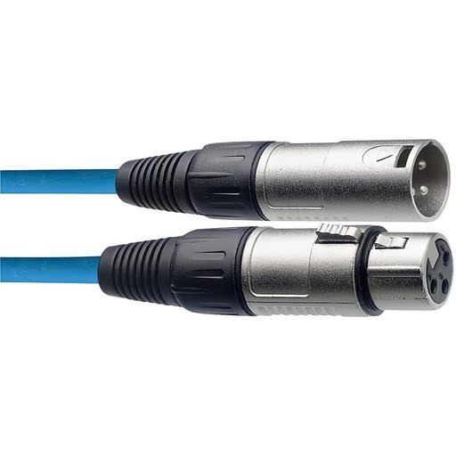 Stagg XLR Microphone Cable 20 ft. Assorted Colors Blue