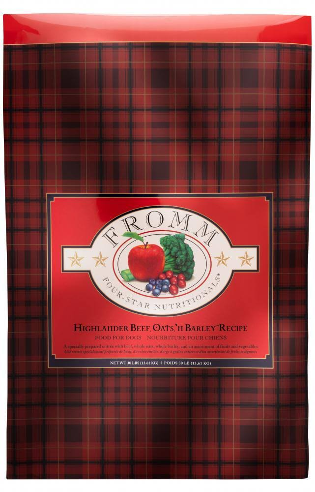 Fromm Four Star Highlander Beef, Oats, 'N Barley Recipe Dry Dog Food - 15 lbs.