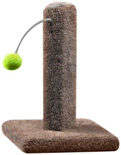 Ware Manufacturing Carpeted Kitty Cactus Scratch Post - with Pom Pom, 16""