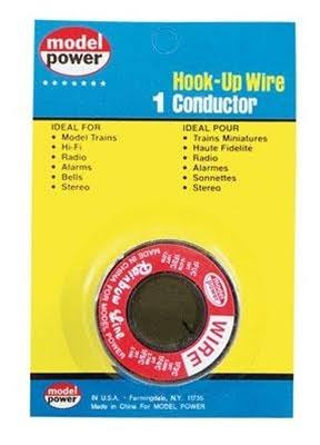Model Power One Conductor Wire - Red, 35'
