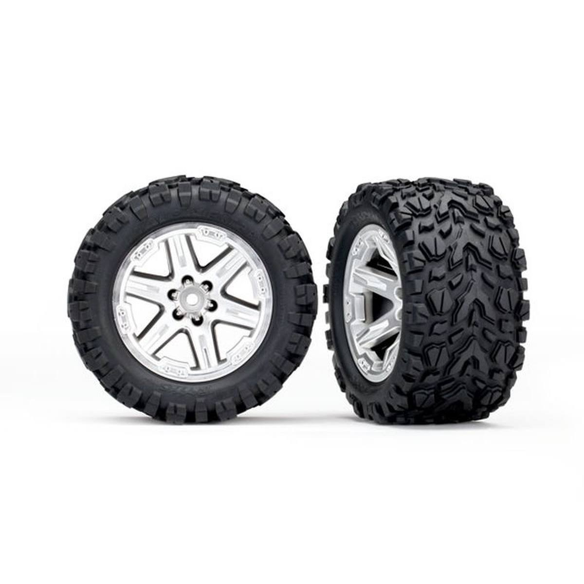 Traxxas 6773r Talon on Circles Tires - Silver Hex, 12mm