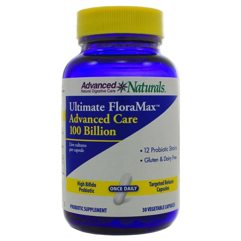Advanced Naturals Ultimate Floramax Advanced Care 100 Billion Dietary Supplement - 30ct