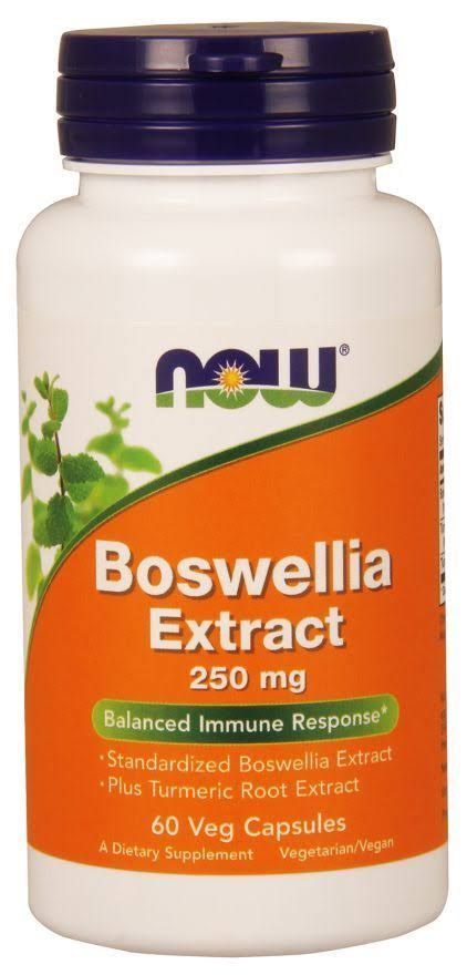 Now Boswellia Extract 250Mg Dietary Supplement - 60 Veg Capsules