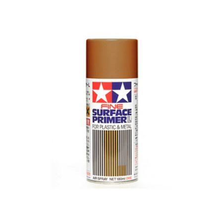 Tamiya Fine Surface Primer Paint - Oxide Red, 180ml