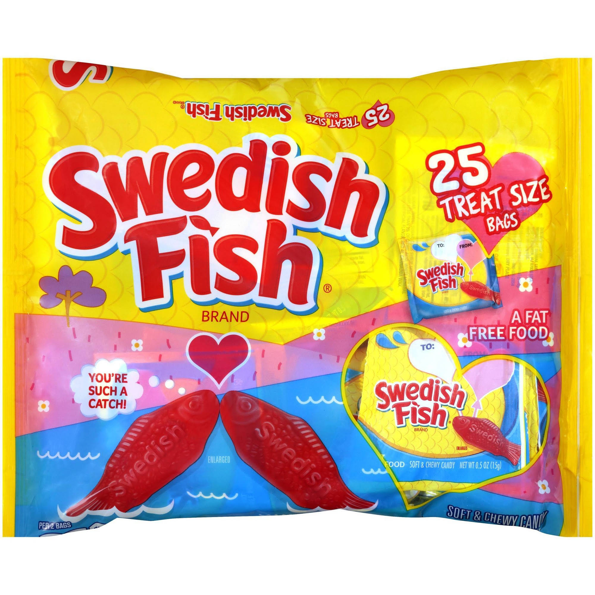 Swedish Fish Soft and Chewy Candy Bar - 13.2oz, 25ct