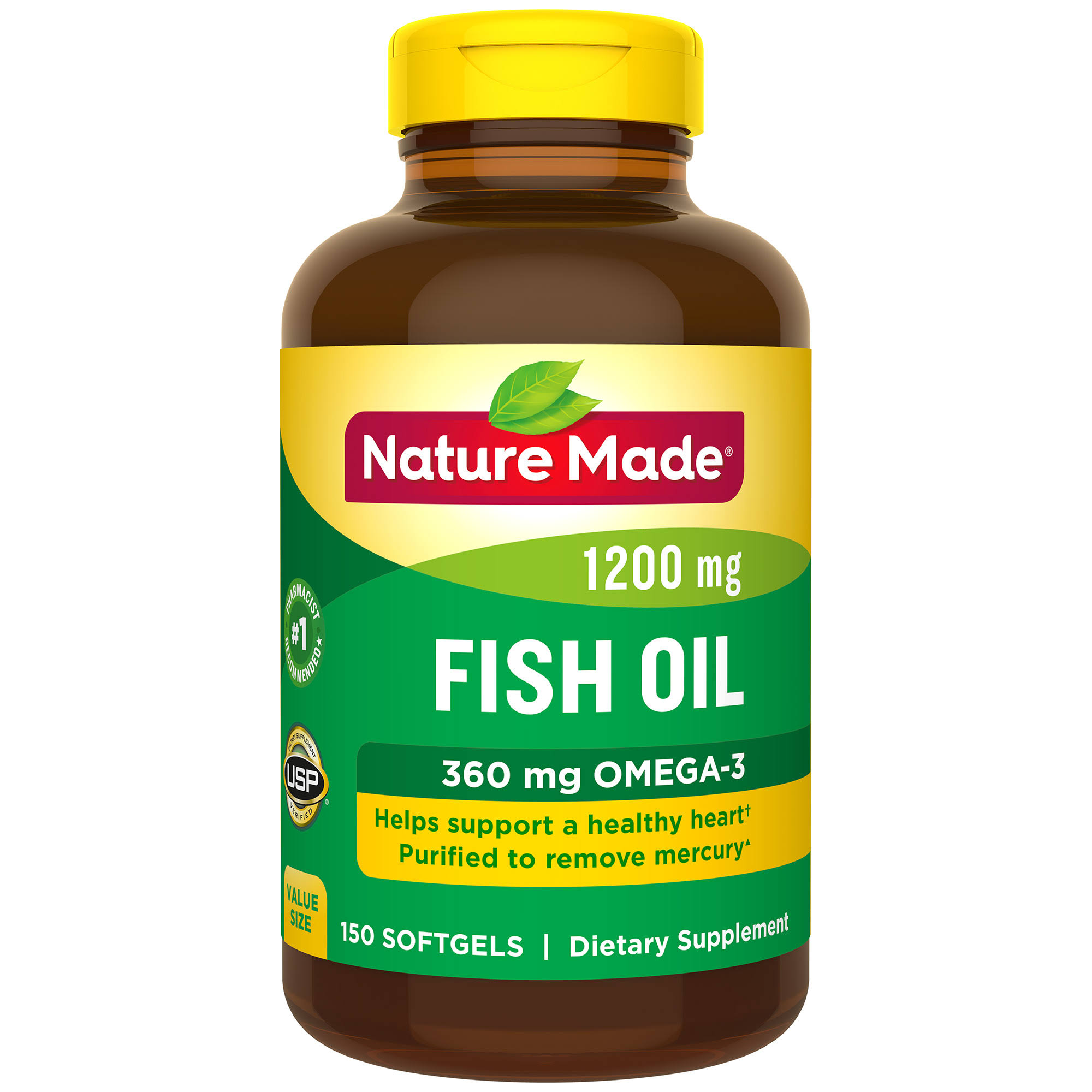 Nature Made Fish Oil Supplement - 1200mg, 150 Softgels