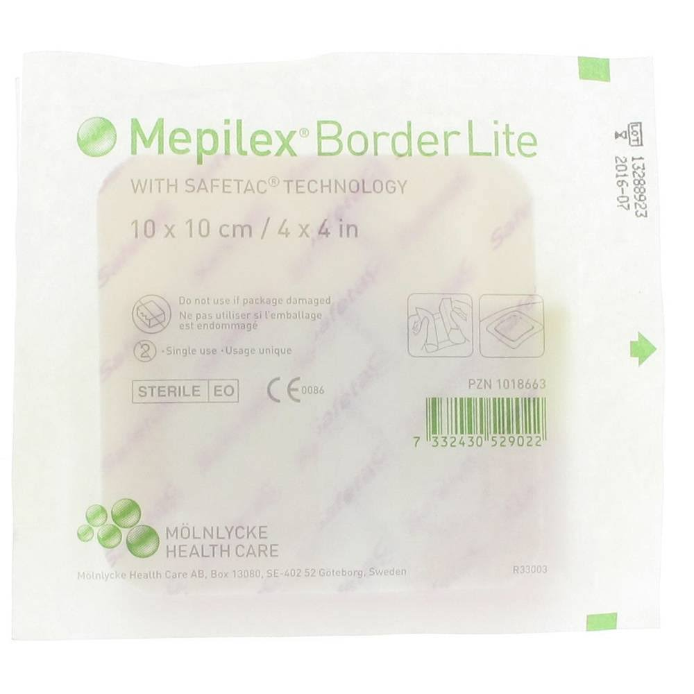 "Mepilex Border Lite Thin Foam Dressing - 4"" x 4"""