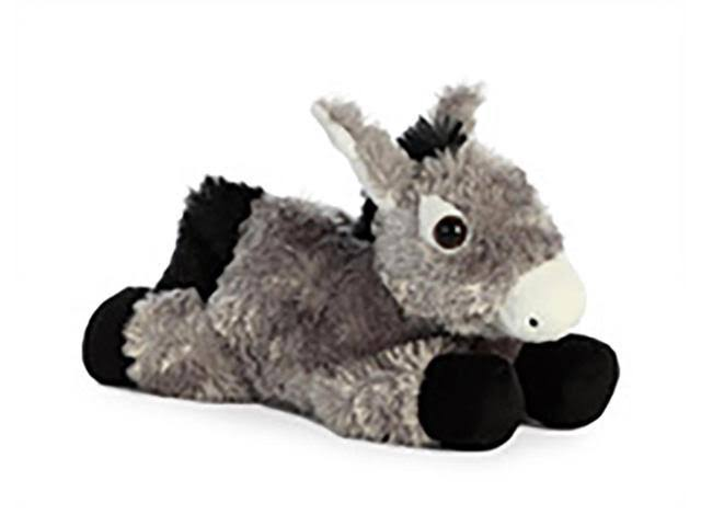 Aurora World Mini Flopsie Toy Donkey Plush, 8""