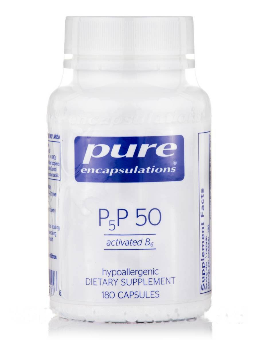 Pure Encapsulations P5P 50 Activated Vitamin B6 Dietary Supplement - 180ct
