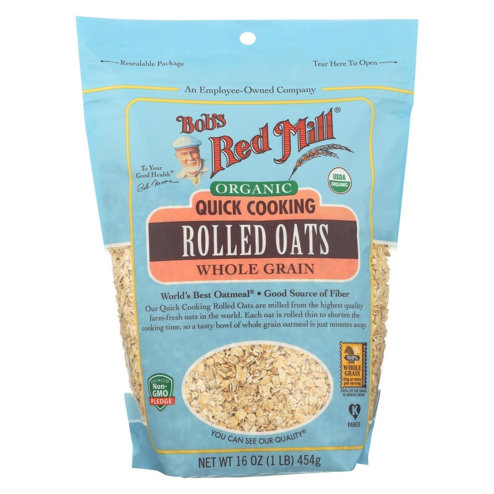 Bob's Red Mill Organic Quick Cooking Rolled Oats - 16 oz