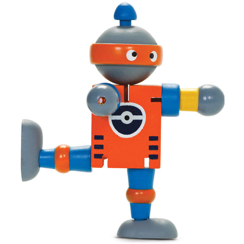 Tobar Wooden Robot Flexi Toy