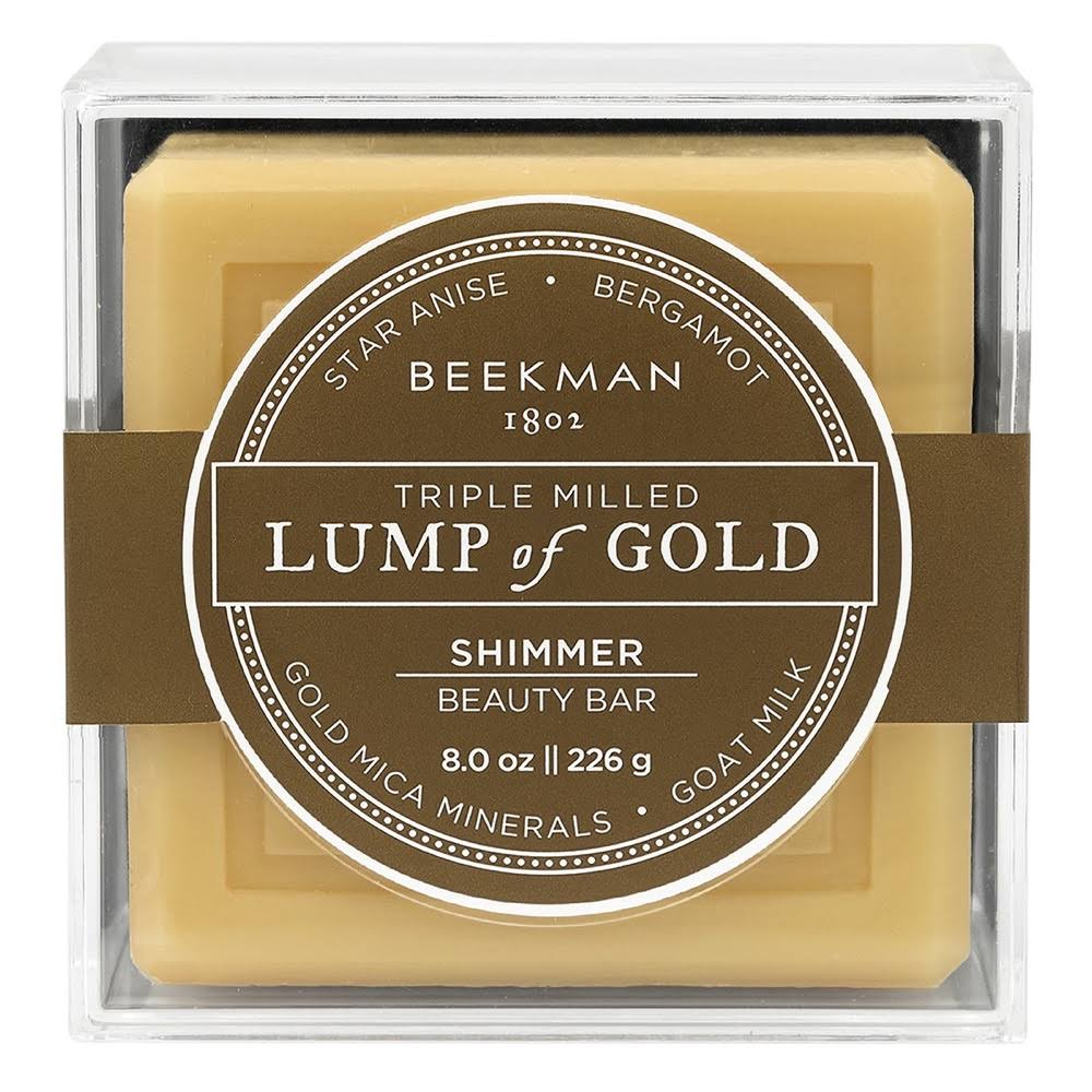 Beekman 1802 Lump of Gold Shimmer Beauty Bar 8 oz.