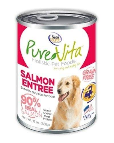 PureVita Salmon Entree 90% Salmon Grain-Free Wet Canned Dog Food, 13oz